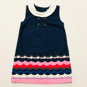 5/$25 Gymboree girls nautical waves dress 18-24 M